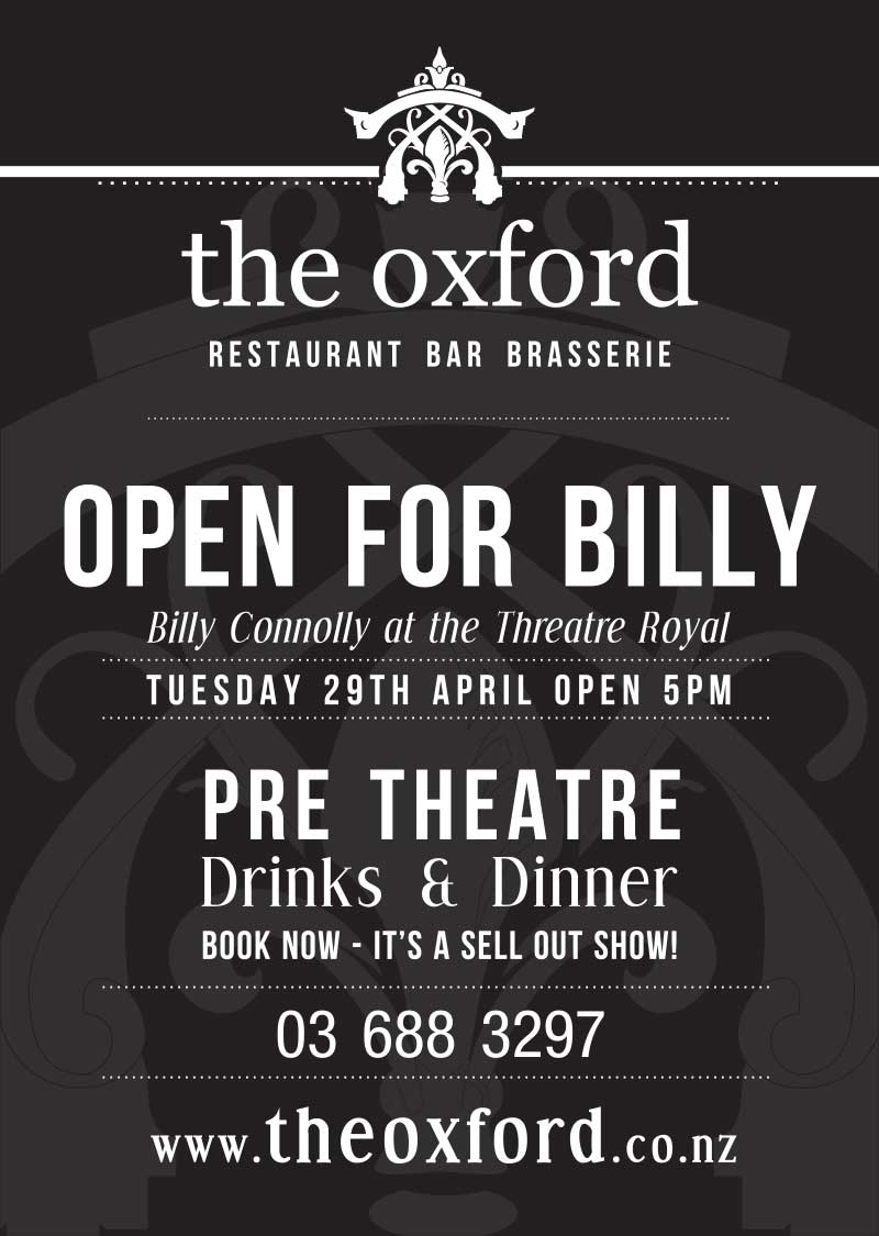 Billy Connolly Pre Theatre Drinks and Dinner