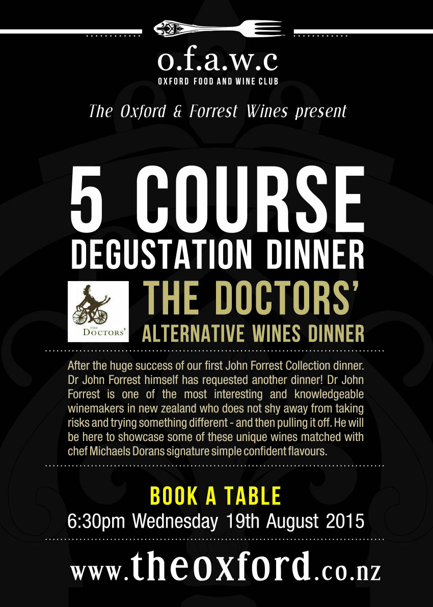 The Doctors & Forrest Wine Dinner