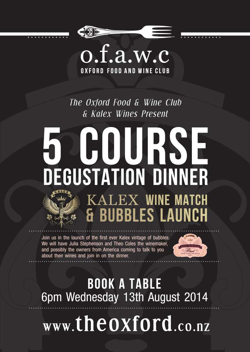 Kalex Wine Dinner & Bubbles Launch  - 13 Aug 2014
