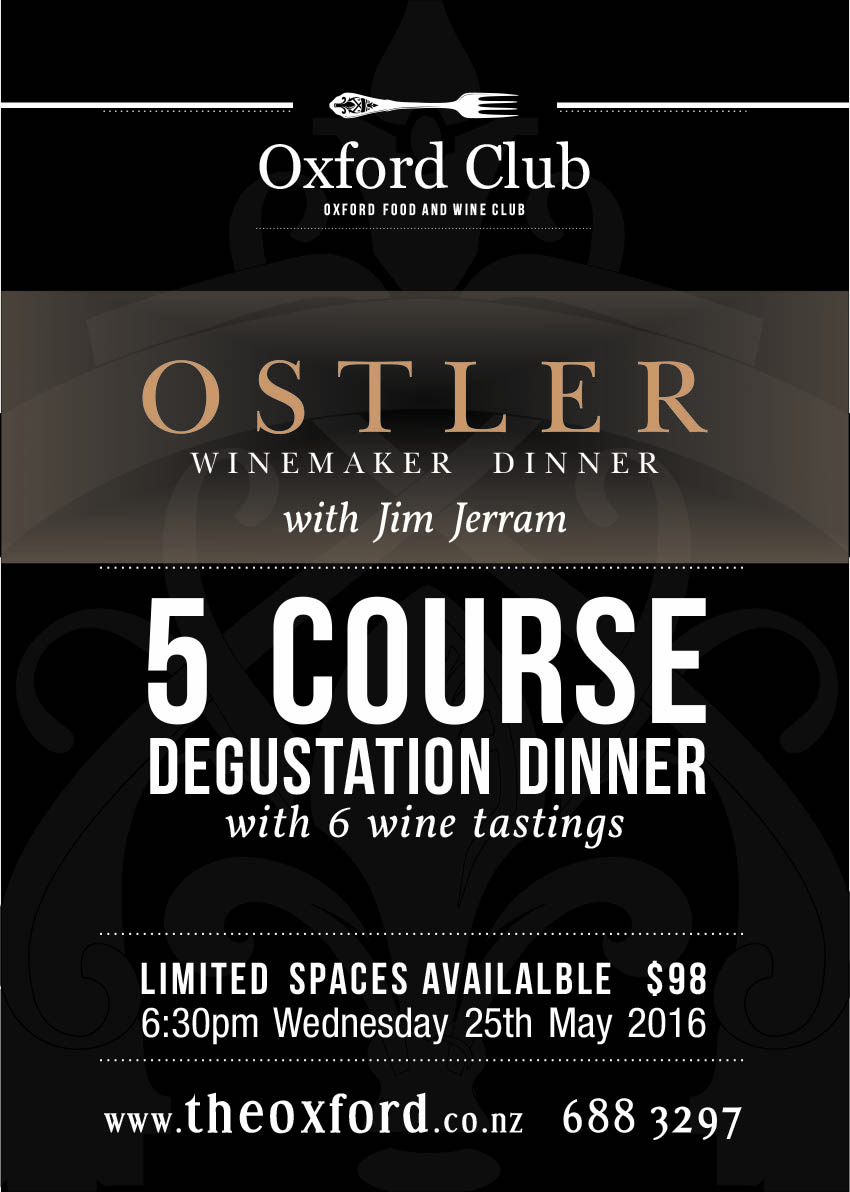 Ostler Wine Maker Dinner