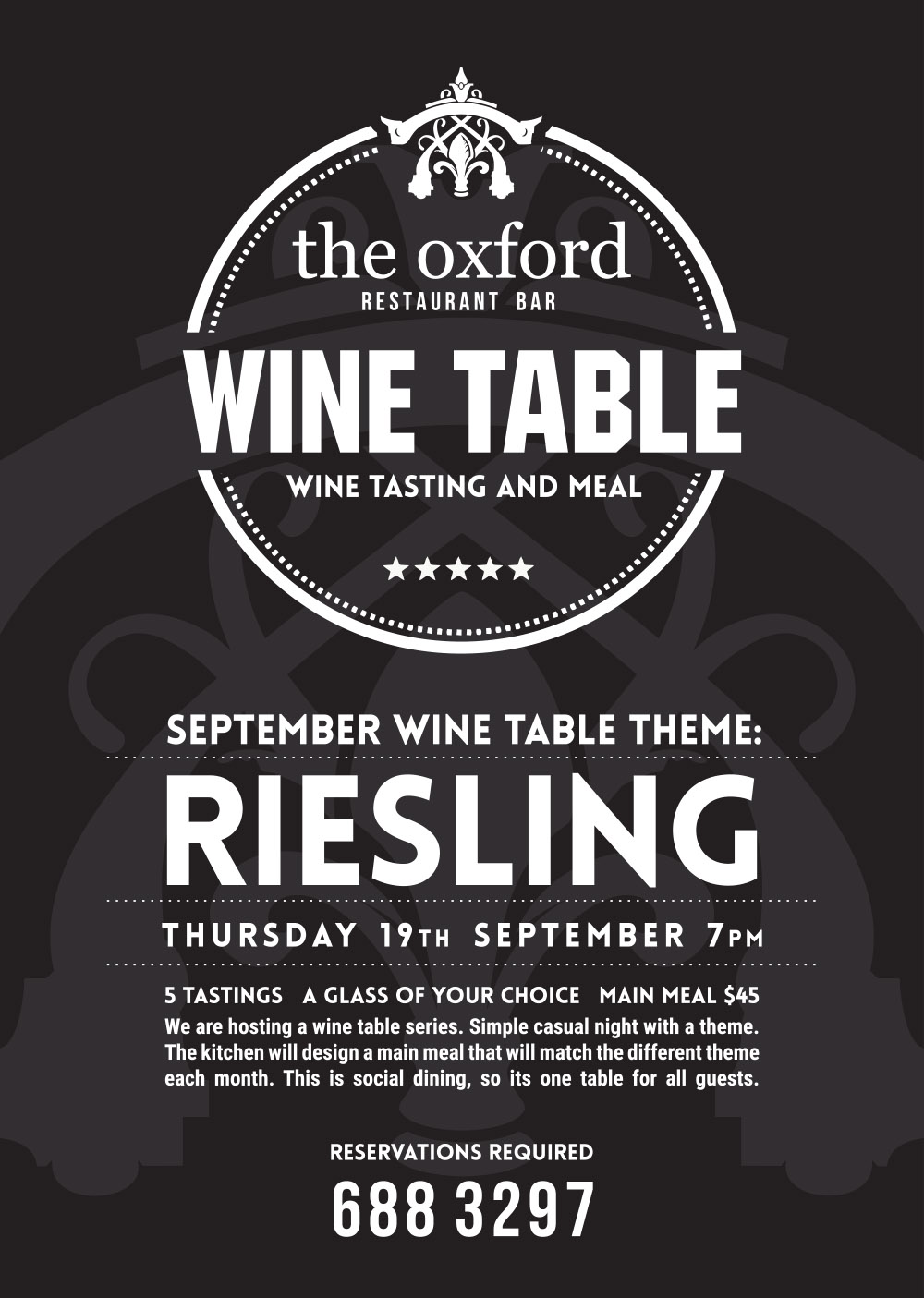 Wine Table Sept: Riesling