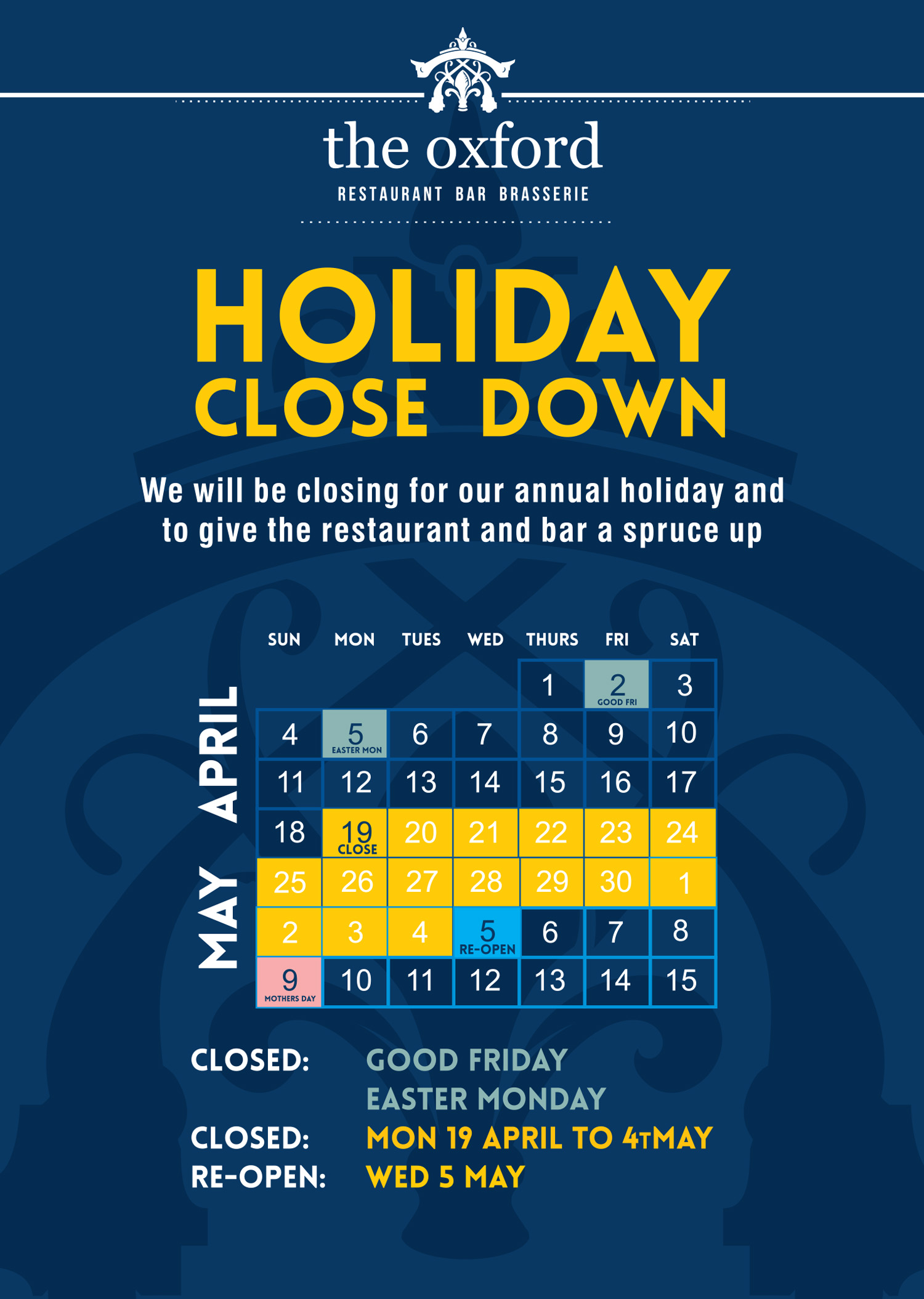 Holiday Closedown 2021